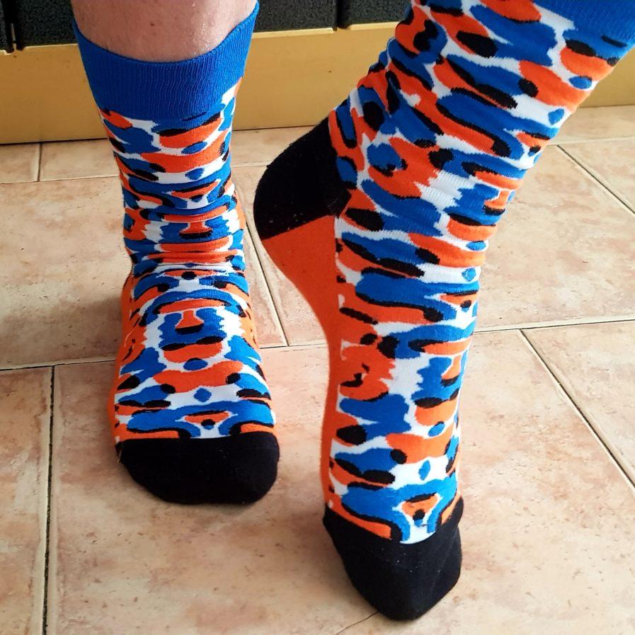 Leopard blue sock