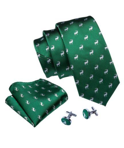Corbata verde ciervos
