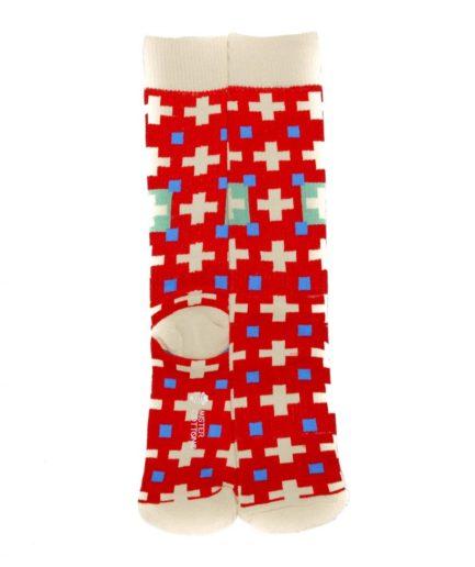 Calcetines deportivos divertidos rojos