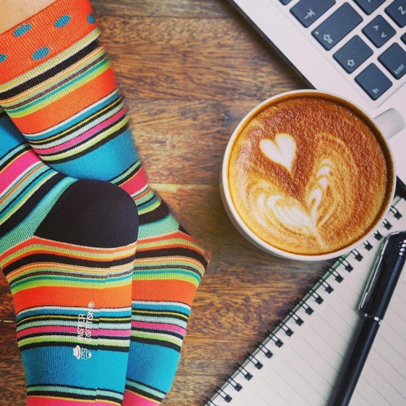 multi striped sock